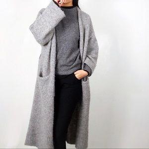 Zara long open cardigan sweater alpaca